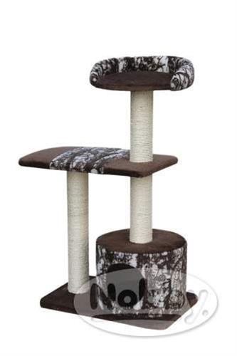 Škrabadlo Conat - hnědé, žíhané Nobby 56 x 38 x 99 cm