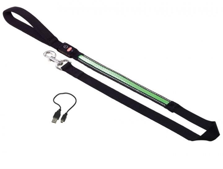 Vodítko nylon svítící zelené Nobby 2,5 x 120 cm
