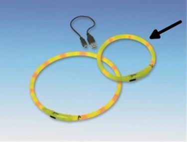 Obojek plast svítící - dobíjení USB Nobby 40 cm