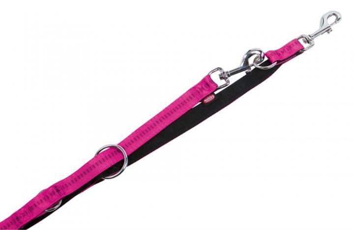 Vodítko nylon soft Grip přep. - tmavě růžové Nobby 1,5 x 200 cm