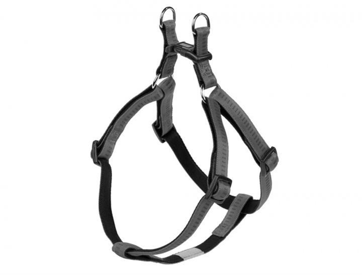 Postroj nylon soft Grip - šedý Nobby 1,5 x 40-56 cm