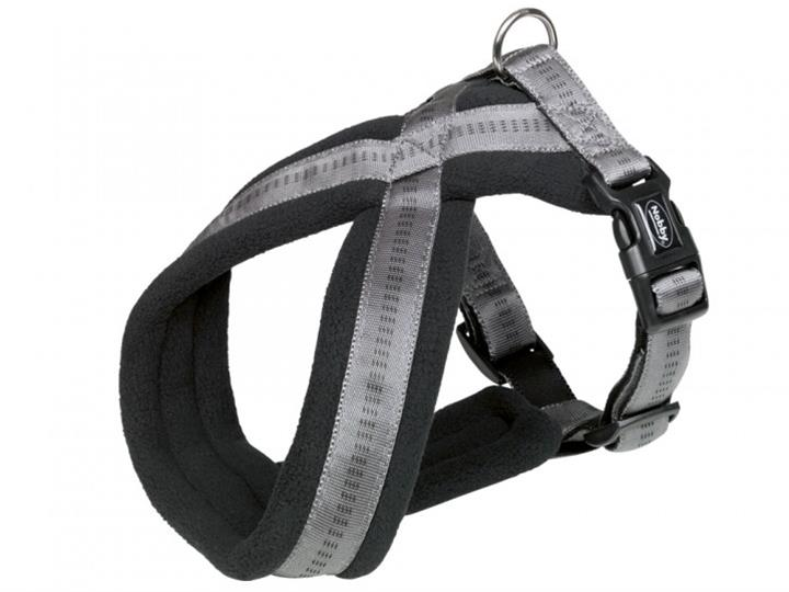 Postroj nylon X soft Grip - šedý Nobby 2,5-5,0 x 40-60 cm