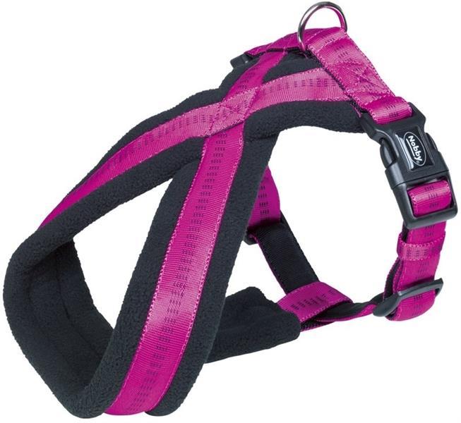 Postroj nylon X soft Grip - tmavě růžový Nobby 2,5-5,0 x 45-70 cm