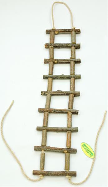 Žebřík dřevěný přírodní slabší 60 cm
