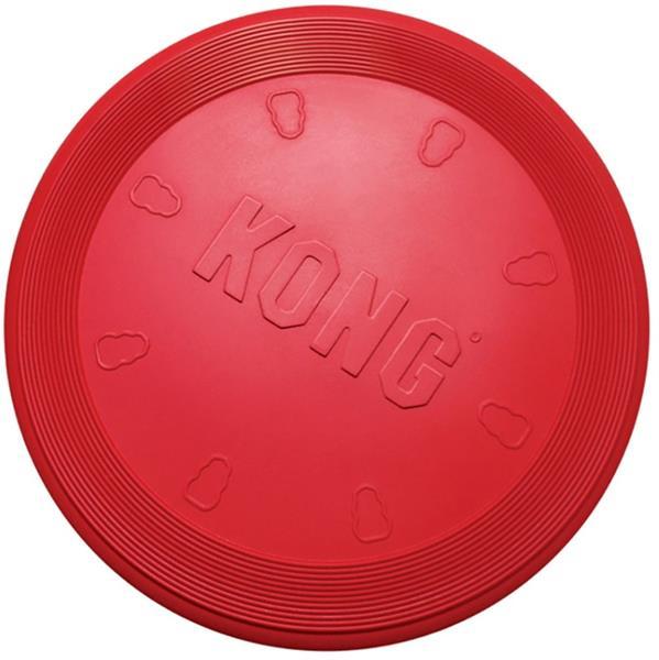 Hračka guma Létající talíř Kong červená