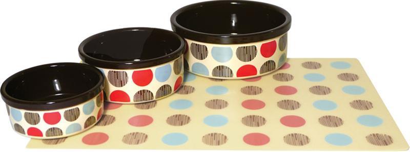 Miska keramická Puntík - barevná RW 12,5 cm