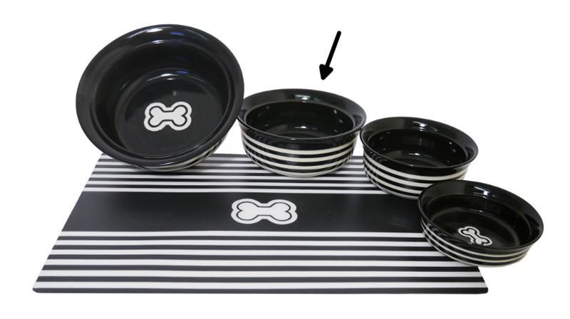 Miska keramická Kost - černo/bílá RW 17,5 cm