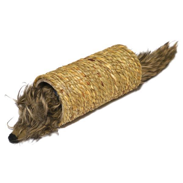 Hračka cat přírodní + plyš Myš v tunelu RW 1 ks