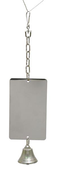 Hračka pták kov Zrcátko + zvonek Rosewood 37 cm