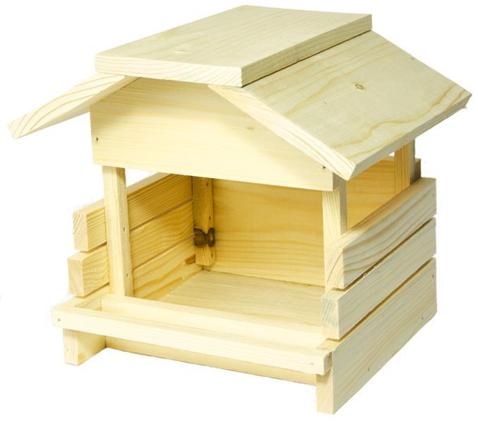 Krmítko venkovní dřevo 24 x 19 x 21 cm