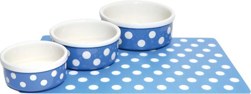 Miska keramická Puntík - modro/bílá RW 12,5 cm
