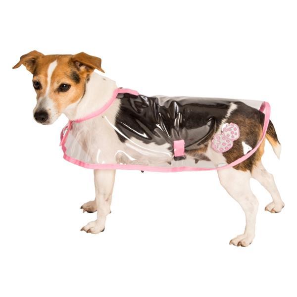 """Obleček - Pláštěnka """"Bella""""průhledná reflex růžová 28 cm"""