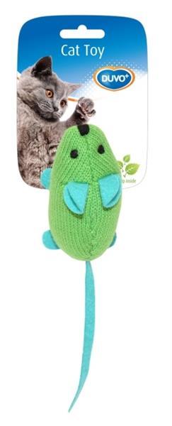 hračka cat plyš DUVO+ barevná myška s šantou 9,5 X 4 X 6 CM