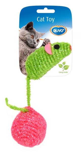 Hračka cat nylon Myš s míčkem Duvo+ 6 cm