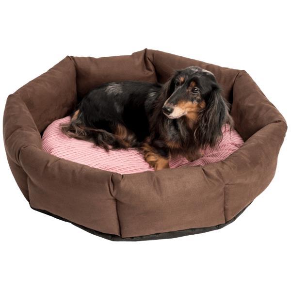 Pelech kruh textil Bellevue LUX hnědo/růžový 80 cm