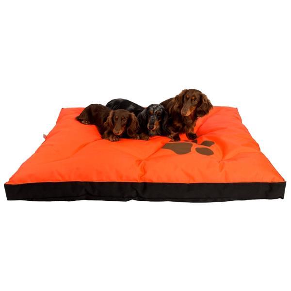 Matrace nylon Boseň oranžová neon s tlapou 90 x 60 x 12 cm