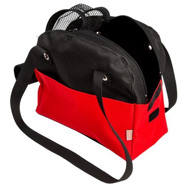 """Transp.Taška nylon""""Boseň Lux""""červeno/černá 30 cm"""