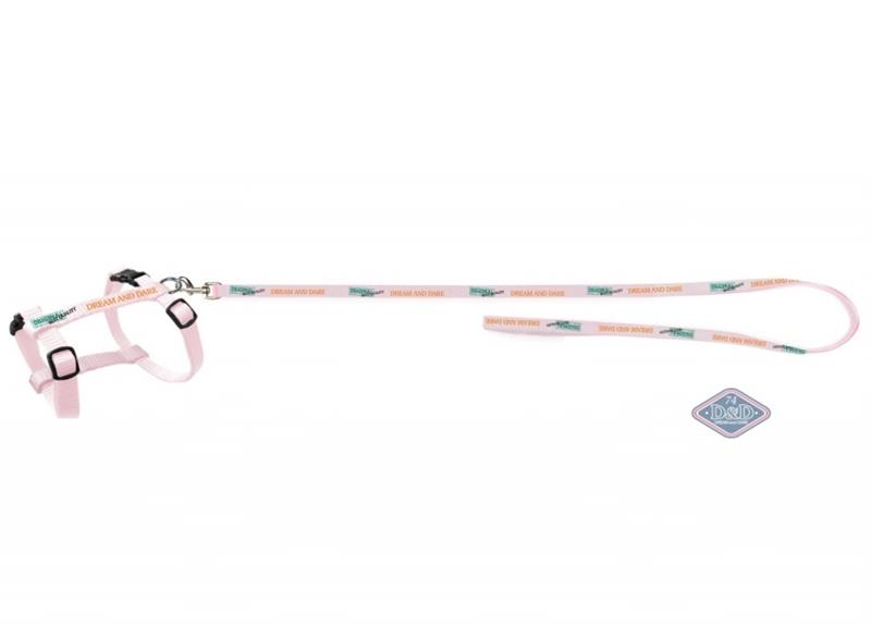 Postroj kitten nylon s vod. Dream - bílý D&D EBI 30-51 cm