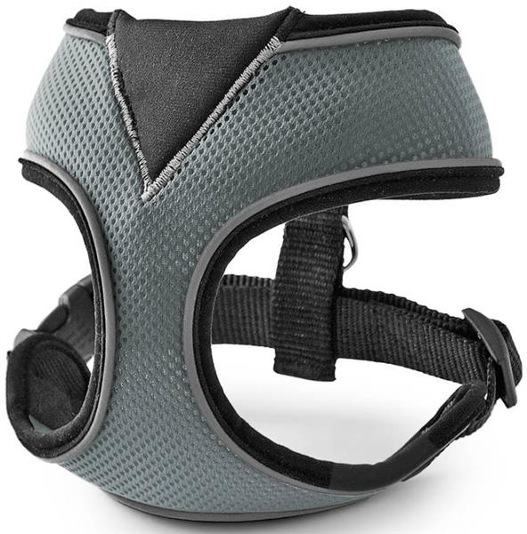 Postroj nylon celotělový - šedý Freezack vel. S - 27 x 9,5 x 15 cm