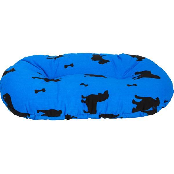 Polštář ovál bavl.Bafani modrý 80 cm
