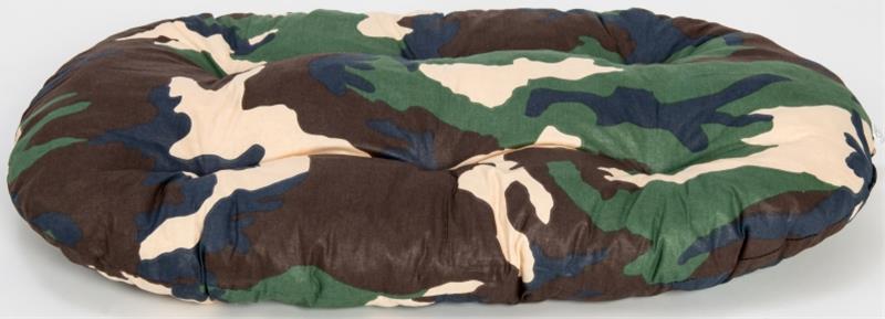 Polštář ovál bavl. Tesák maskáčový 80 cm