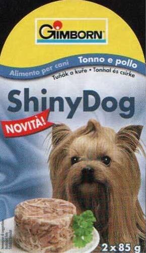 Gimborn Shiny dog konz. - tuňák, kuře 2 x 85 g