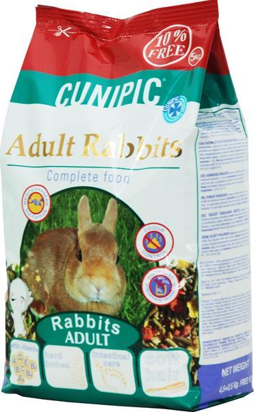 Cunipic Rabbit Adult - králík dospělý 4,5 kg + 0,5 kg zdarma