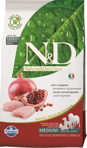 N&D PRIME Dog Grain Free Adult M/L Chicken & Pomegranate 2,5 kg