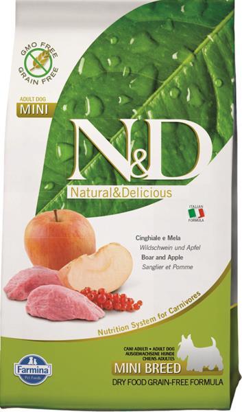 N&D PRIME Dog Grain Free Adult Mini Boar & Apple 2,5 kg