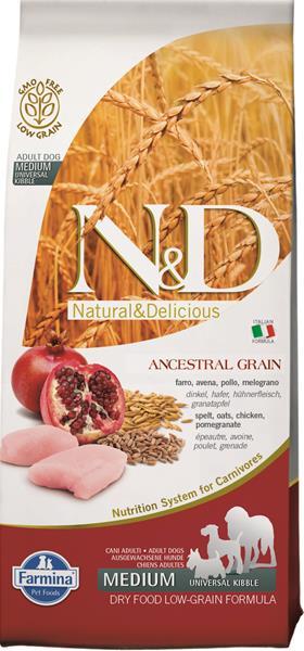 N&D Low Grain Dog Adult M/L Chicken & Pomegranate 12 kg