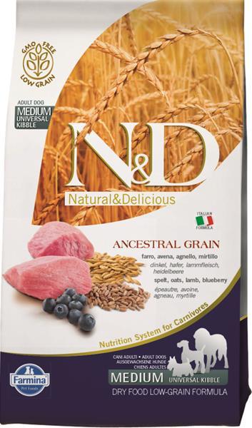 N&D Low Grain Dog Adult M/L Lamb & Blueberry 2,5 kg
