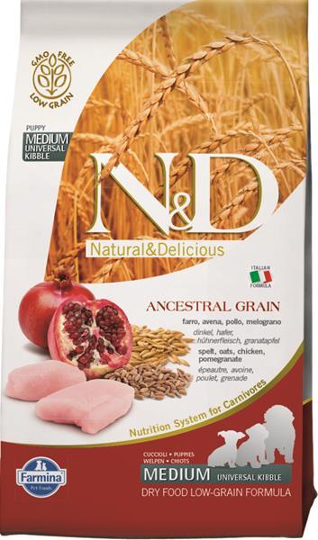 N&D Low Grain Dog Puppy M/L Chicken & Pomegranate 2,5 kg