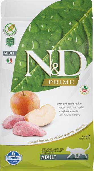 N&D PRIME Cat Grain Free Adult Boar & Apple 1,5 kg