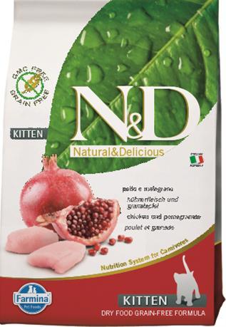 N&D PRIME Cat Grain Free Kitten Chicken & Pomegranate 0,3 kg