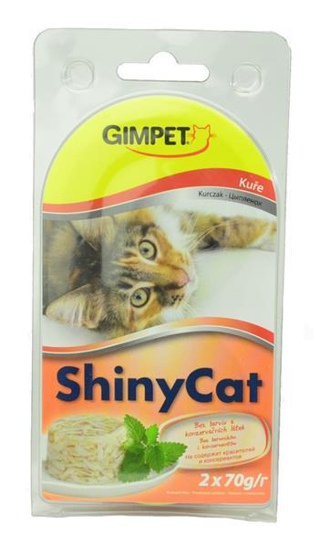 Gimpet Shiny cat konz. - kuře 2 x 70 g