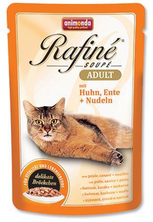 Animonda Rafine Soupe cat kaps. - kuře, kachna, těstoviny 100 g