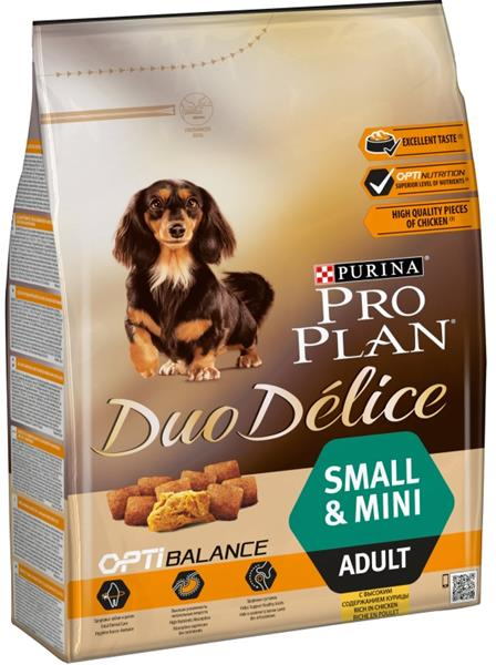 PRO PLAN Dog Adult Duo Délice Small Chicken 2,5 kg