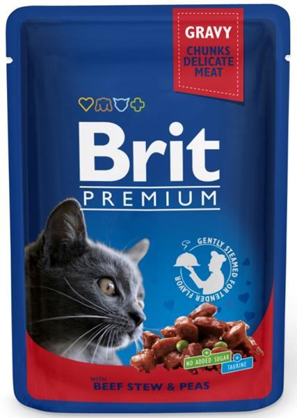 Brit Premium Cat kaps. -Gravy Beef Stew & Peas 100 g