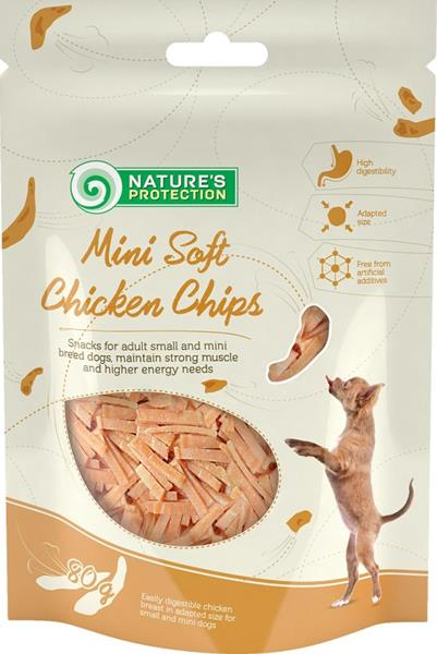 Nature's Protection Dog Snack Mini kuřecí čipsy 80 g
