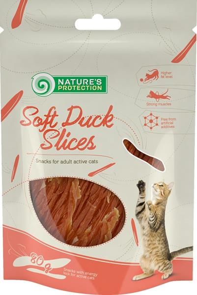 Nature's Protection Cat Snack kachní prsa 80 g
