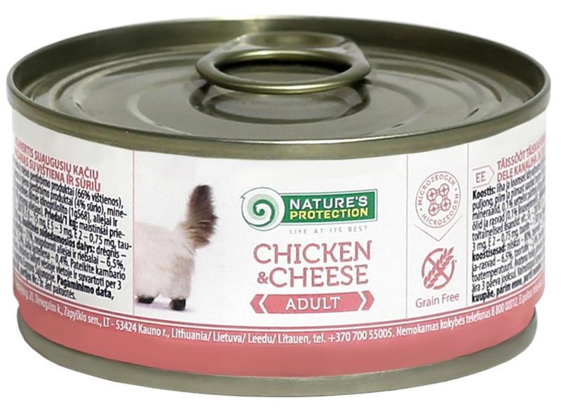Nature's Protection Cat konz.Adult kuře/sýr 100 g
