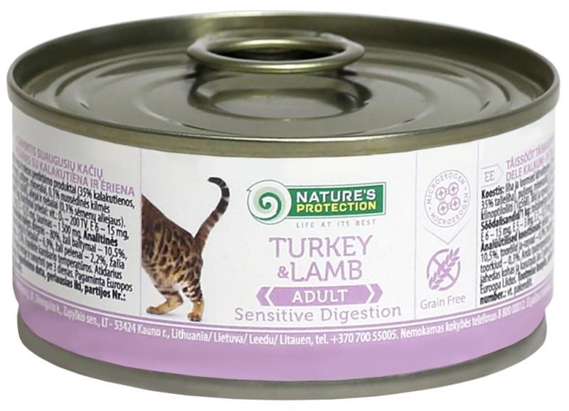 Nature's Protection Cat konz.Sensitive krůta/jehně 100 g