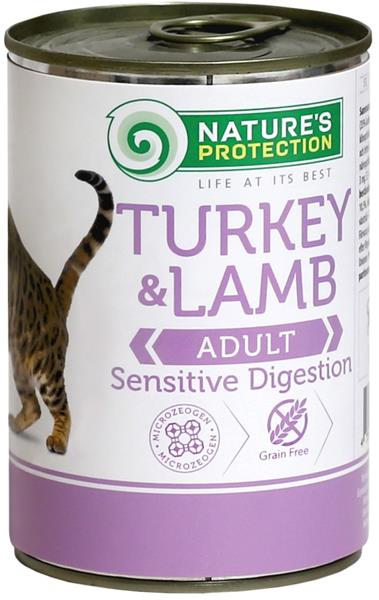 Nature's Protection Cat konz.Sensitive krůta/jehně 400 g