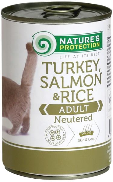Nature's Protection Cat konz.Neutered krůta/losos 400 g