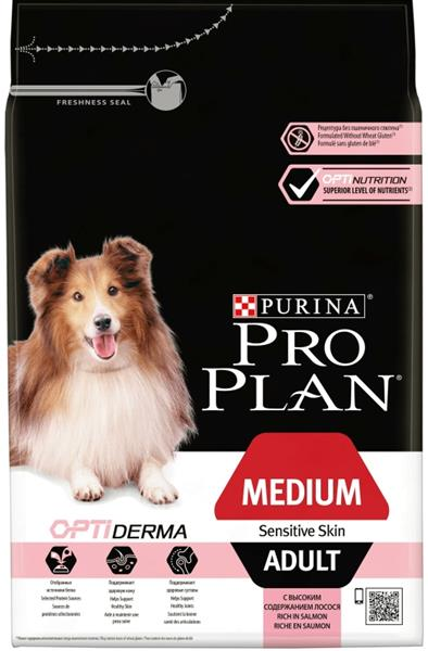 PRO PLAN Dog Adult Medium Sensitive Skin 3 kg