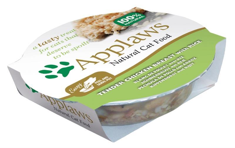Applaws Cat miska kuřecí prsa s rýží 60 g
