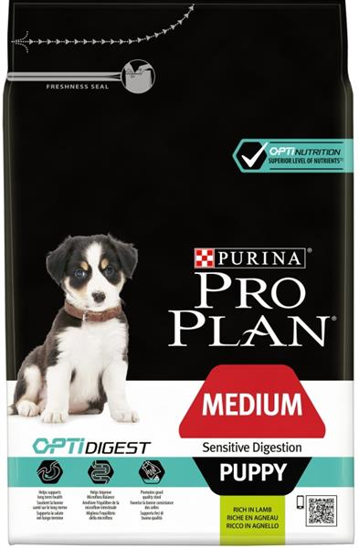 PRO PLAN Puppy Medium Sens.Digestion Lamb 3 kg