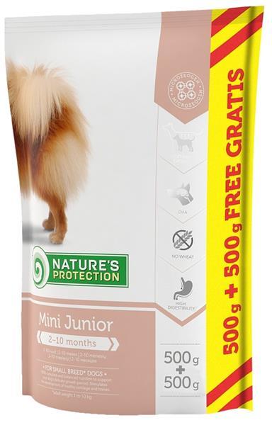 Nature's Protection Dog Dry Junior Mini 500 g + 500 g