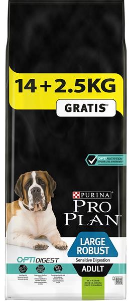 PRO PLAN Dog Adult Large Rob.Sens.Dig.Lamb 14+2,5 kg zdarma