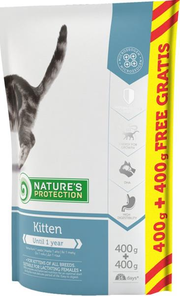 Nature's Protection Cat Dry Kitten 400 g + 400 g